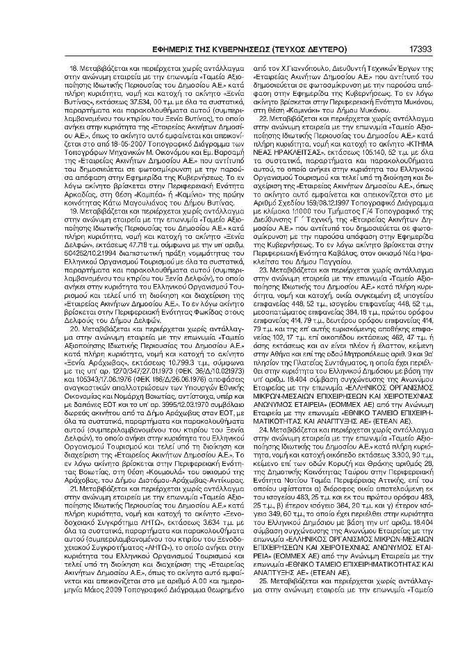 ΤΑΙΠΕΔ_ΑΚΙΝΗΤΑ_ΚΥΚΛΑΔΕΣ_ΦΕΚ 1020_25.4.2013