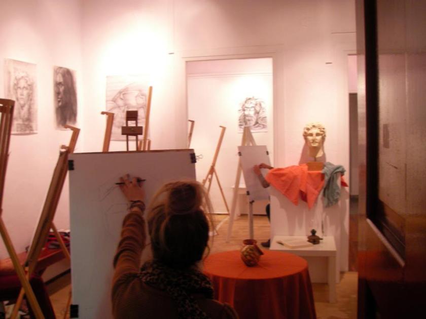 Φωτογραφία από το εργαστήριο ζωγραφικής