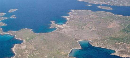 Ρήνεια- αεροφωτογραφία από τα Στενά (Μπίρης Κυπριανός)