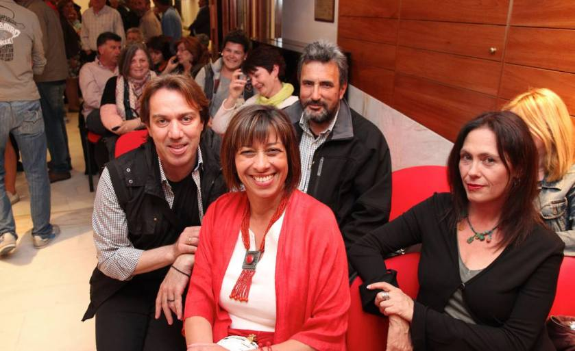 Γρυπάρειο 23.05.14 ομιλία Ανδρέα Φιορρεντίνου, στη φωτογραφία κάποια από τα μέλη της ΚΕΠΟΜ που παραβρέθηκαν στην εκδήλωση.