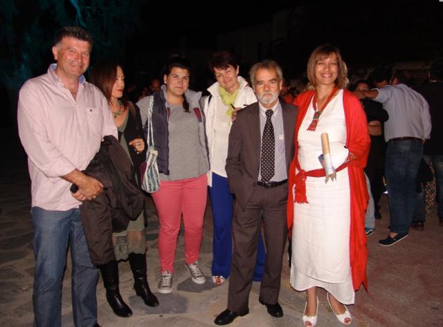 Θεατράκι της Λάκκας 23.05.14 ομιλία Κωνσταντίνου Κουκά, στη φωτογραφία κάποια από τα μέλη της ΚΕΠΟΜ που παραβρέθηκαν στην εκδήλωση.