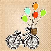 ποδήλατο μπαλόνια