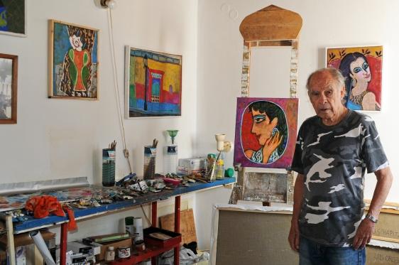 Ο Luis στο εργαστήριό του, φωτογραφία: Βιβή Χανιώτη, 2012